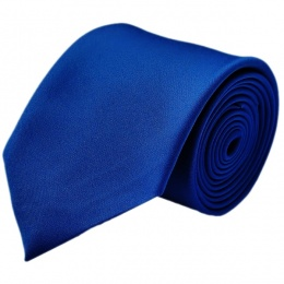 Boys Royal Blue Plain Satin Tie (45'')