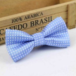 Boys Blue Polka Dot Bow Tie with Adjustable Strap