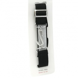 Boys Black Adjustable & Elasticated Formal Belt