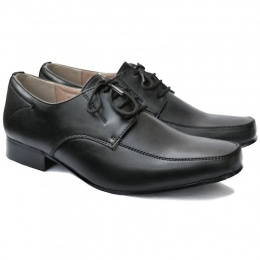 Boys Black Matt Formal Shoes - William