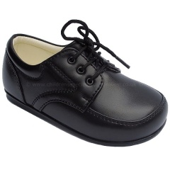 Boys Black Matt Formal Royal Lace Up Shoes