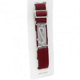 Boys Burgundy Adjustable & Elasticated Formal Belt