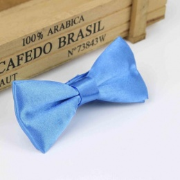 Boys Cornflower Blue Satin Bow Tie with Adjustable Strap