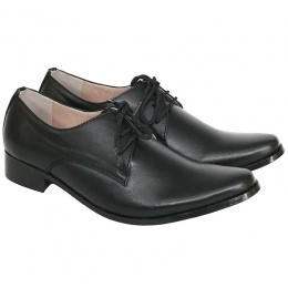 Boys Black Matt Derby Pointed Shoes 'George'
