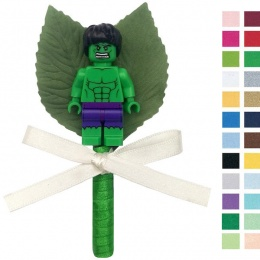 Boys Hulk Buttonhole with Satin Bow & Stem