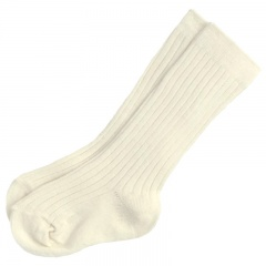 Boys Ivory Ribbed 3/4 Length Formal Socks