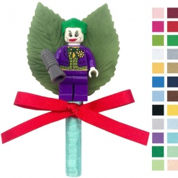 Boys Joker Buttonhole with Satin Bow & Stem