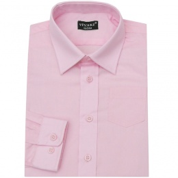 Boys Pink Formal Long Sleeved Shirt