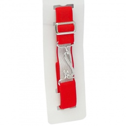 Boys Red Elastic Formal Belt