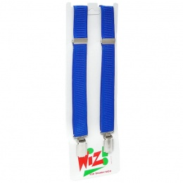Boys Plain Royal Blue Adjustable Formal Braces