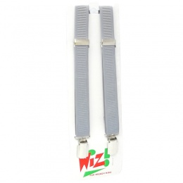 Boys Silver / Grey Adjustable & Elasticated Formal Braces