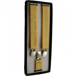 Boys Sparkly Gold Adjustable Braces + Gift Box