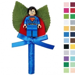 Boys Royal Blue Buttonhole with Superman Figure