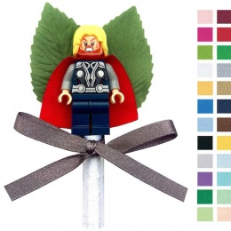 Boys Thor Buttonhole with Satin Bow & Stem