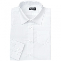 Boys White Formal Long Sleeved Shirt