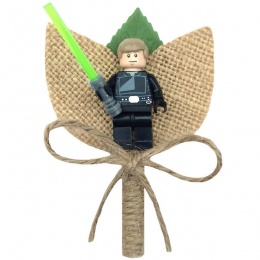 Boys Luke Skywalker Hessian & Twine Rustic Buttonhole