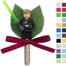 Boys Luke Skywalker Buttonhole with Satin Bow & Stem