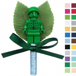 Boys Toy Story Soldier Buttonhole with Satin Bow & Stem