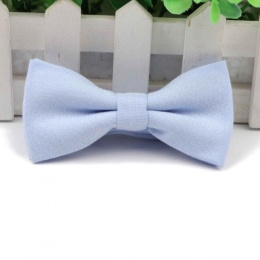 Boys Pastel Blue Cotton Bow Tie with Adjustable Strap