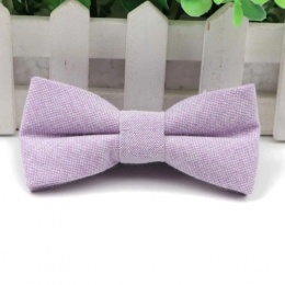 Boys Pastel Lilac Cotton Bow Tie with Adjustable Strap
