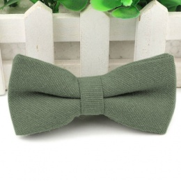 Boys Sage Green Cotton Bow Tie with Adjustable Strap