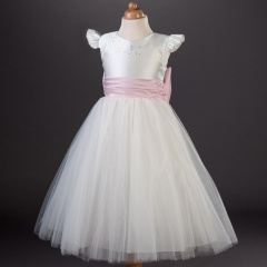 Busy B's Bridals Eleanor Sash & Bow Organza Dress