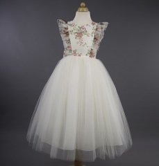 Busy B's Bridals 'Iris' Floral Organza Tulle Dress