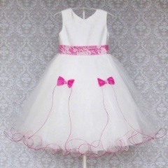 Busy B's Bridals Lipstick Pink Aleena Flower Girl Dress