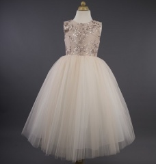 Busy B's Bridals 'Rachel' Sequin Flower Tulle Dress