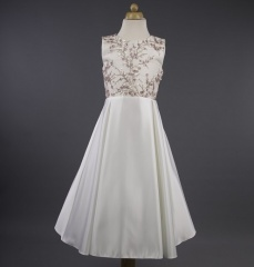 Busy B's Bridals 'Yvonne' Sequin Flower Satin Dress