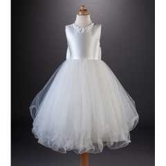 Busy B's Bridals 'Tawny' Daisy & Crystal Satin Tulle Dress
