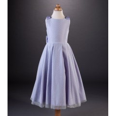 Busy B's Bridals 'Tegan' Spotty Tulle Coloured Satin Dress