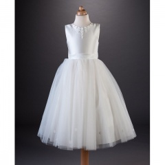 Busy B's Bridals 'Tiffany' Daisy Satin Tulle Dress