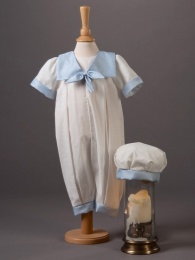 Baby Boys Cotton Romper & Hat - Butler by Millie Grace