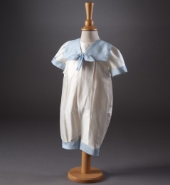 Baby Boys Sailor Christening Romper - Butler by Millie Grace