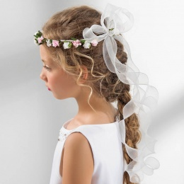 Girls Rose & Organza Curls Garland by Lacey Bell Style CA212