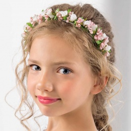 Girls Rose Floral Headband by Lacey Bell Style CA301