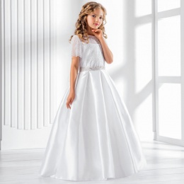 Girls Lace & Taffeta Ball Gown Style Dress by Lacey Bell CD25