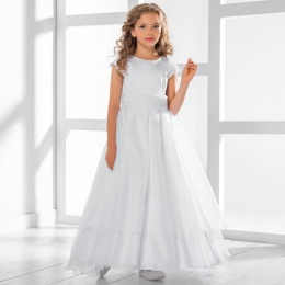 Girls Layered Organza & Satin Dress by Lacey Bell Style CD32