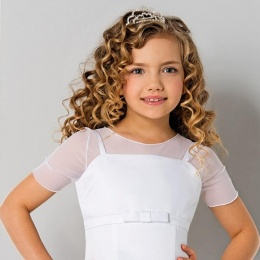 Girls Tulle Short Sleeve T-Shirt by Lacey Bell Style CJ138