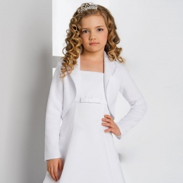 Girls Fleece Satin Trim Jacket by Lacey Bell Style CJ174
