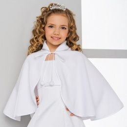 Girls High Neck Fleece Cape by Lacey Bell Style CJ175
