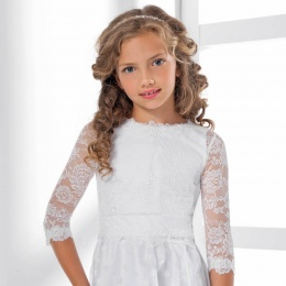 Girls Topper Lace Back Button Bolero by Lacey Bell Style CJ93