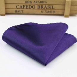 Boys Dark Purple Satin Pocket Square Handkerchief