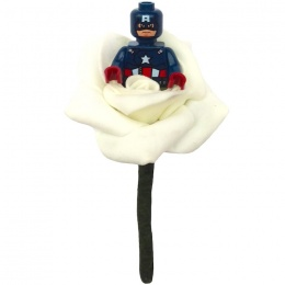 Boys Captain America Ivory Rose Buttonhole