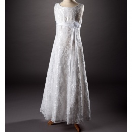 Millie Grace 'Chanay' White Lace Communion Dress