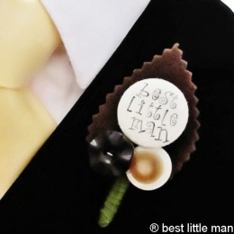 Boys Rustic Best Little Man Buttonhole