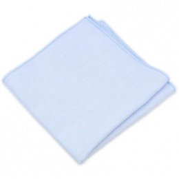 Boys Pastel Blue Cotton Pocket Square Handkerchief
