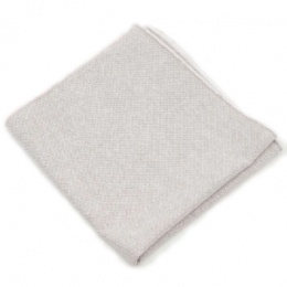 Boys Light Grey Cotton Pocket Square Handkerchief