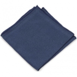 Boys Navy Cotton Pocket Square Handkerchief